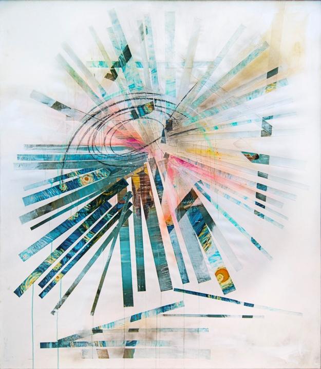Aimee Joaristi, Sol Roto, mixta, 189x144 cm. 2012.