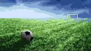 campo de futbol, bola, porteria 153395