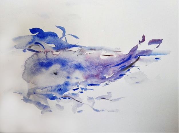 Cristina Gutiérrez-Cruz, Cantos cetáceos 1, Whale Songs 1, 27.9 x 38.1 cm. 2016